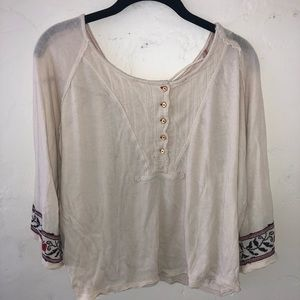 Free People detailed T-shirt
